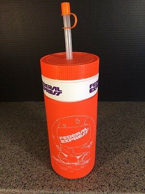Vintage Federal Express ( Fedex ) Water Bottle - Insulated New Never Used!