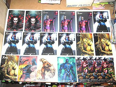 2009 X-Men Archives Nemesis INSERT CHASE 19 CARD LOT! MAGNETO APOCALYPSE!