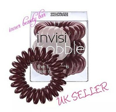 Invisibobble traceless Hair Ring And Bracelet Band * Pretzel Brown* Pack Of 3