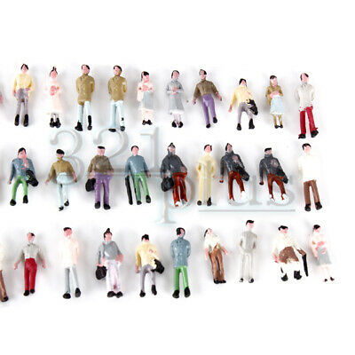 100 pcs. 1:160 Scale Figures Scale Model Figure Painted Sitting Standing 13mm