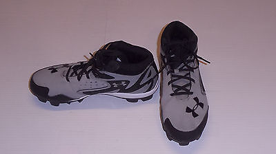 Under Armour Authentic MLB baseball youth size 6Y gray black cleats shoes