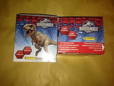 2 Boxes of Jurassic World Panini Stickers 100 Packs Party Bag Filler