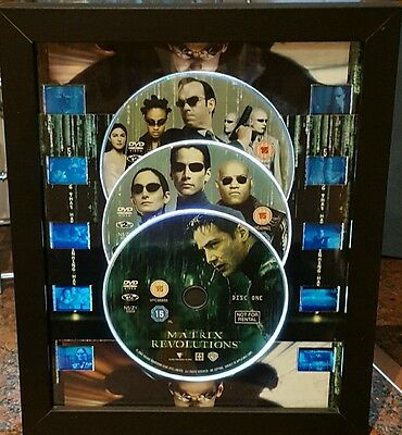 matrix trilogy dvd 35mm mounted film cell display framed keanu neo