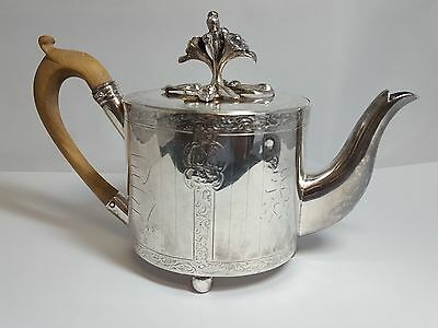 Vintage 1802 British Hong Kong Sterling Silver Teapot R.S. Hennell 3575