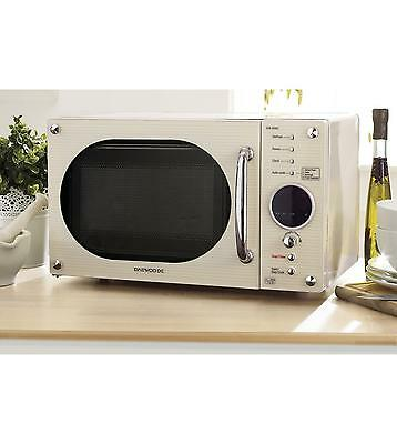 Daewoo Solo Microwave in Cream or Red