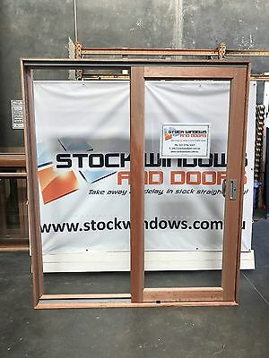 Timber Sliding Door 2105h x 1810w DOUBLE GLAZED IN STOCK NOW  RIGHT HAND SLIDE