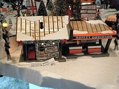 Retired D56 Snow Village, Harley Big Tin Drive-in.  Store Display