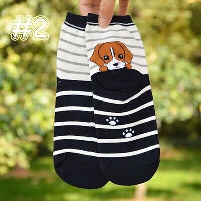 Animals New Fashion Cute Cartoon Ankle Short Socks Dog Puppy Print Cotton