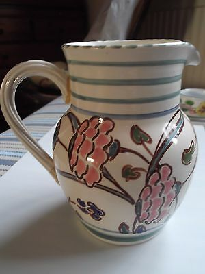 Honiton Pottery Hand Painted Jug - Floral Design (104)