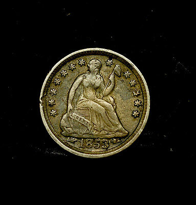 1/2 dime, Seated, 1853, vf-xf - USA