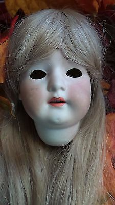 "6"" ANTIQUE Bisque GERMAN Doll HEAD Heubach KOPPESLDORF needs TLC"