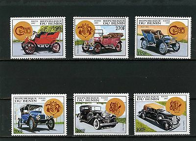 BENIN 1997 Sc#987-992 OLD CARS SET OF 6 STAMPS MNH