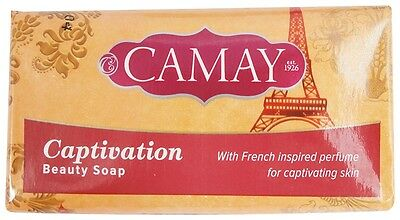 Pack of 6 Camay Captivation Beauty Soap Bar 80 g each French Perfume Fragrance