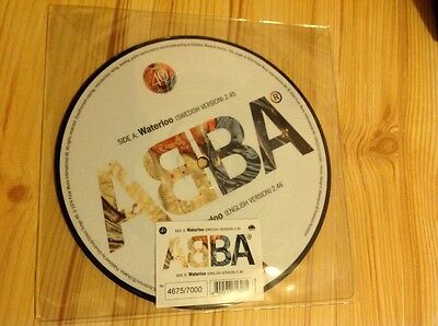 ABBA Waterloo  7' picture disc ( 2014 ) limited edition