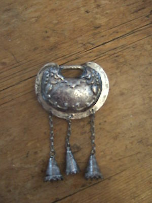 Antique  Silver Chinese Life Lock pendant