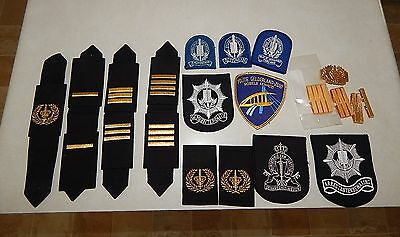 Vintage Lot Netherlands Dutch Holland Military Police Crests Patches Epaulette