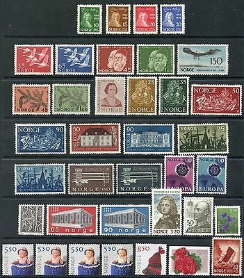 Weeda Norway 158//1352, B37 VF unused (no gum) lot, 1934-2003 issues. CV $115.55