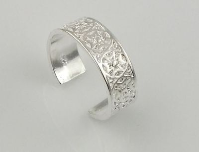 Beautiful Patterned Adjustable Fine Silver Ladies/girls Toe Ring