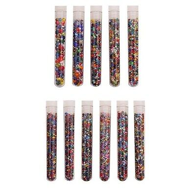 Czech Glass Seed Bead Sizes 6/0-14/0 ~ Vial Tube ~ Multi Mix Colors & Finishes