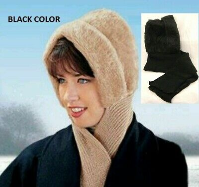 Hat And Scarf All in one-- 4 Foot Knit Scarf FASHIONABLE BLACK BLACK BLACK BLACK