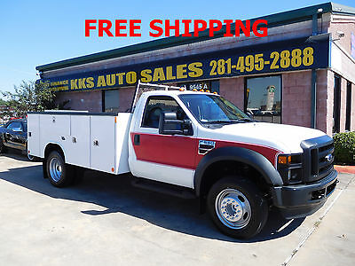 2009 Ford F-550  2009 FORD F-550 SUPER DUTY  11 FEET UTILITY SERVICE TRUCK WITH TOMMY LIFT GATE