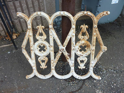 C 1890 VINTAGE antique METAL porch RAILING section victorian GOTHIC design 23""