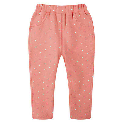 Fashion Kids' Girls Simple Cotton Casual Pants Thick Warm Trousers 6061