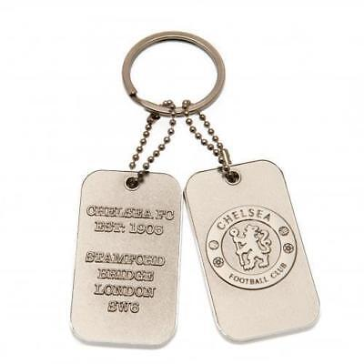 Chelsea F.C. Dog Tag Keyring Brand New Official Licensed Product