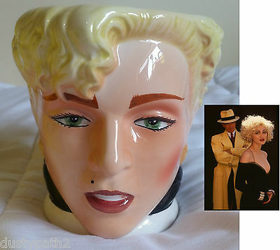 New In Box 1990's Dick Tracy Figural Mug Featuring Madonna as Breathless Mahoney