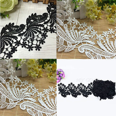 3 Yards Delicate Flower Embroidered Applique Lace Ribbon Trim Sewing DIY Craft