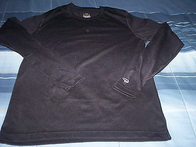 Duofold-Varitherm-Youth Crew Shirt -Warm/dry Thermal-New-Size Large-Black-Soft