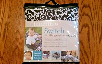 New Baby switch 2-in 1shopping cart cover black white infantino