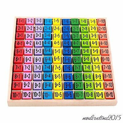 1PC Multiplication Table Wooden Teaching Puzzle Children Math Educational Toy