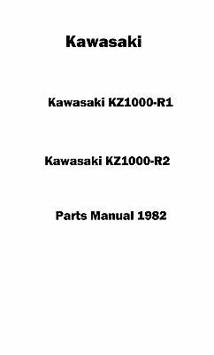 Kawasaki parts manual book 1982 KZ1000-R1 & KZ1000-R2