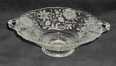 "Cambridge WILDFLOWER CRYSTAL *7 1/4"" HANDLED BONBON*3500/54"