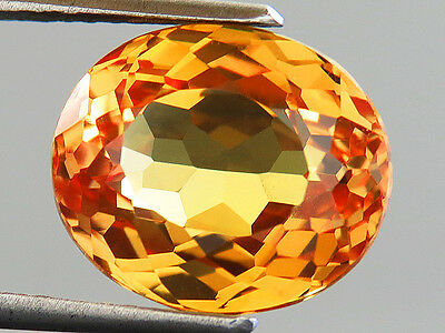 7.90ct AWESOME MONTANA GOLD YELLOW SAPPHIRE OVAL CUT LAB CREATED saphir jaune