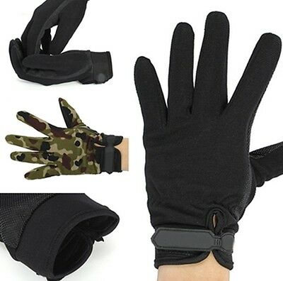 Unisex Military Tactical Airsoft Shooting Hunting Full Finger Gloves 3 Sizes