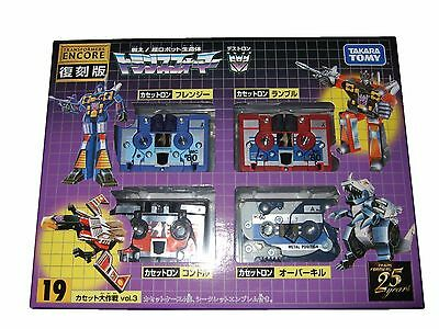 Transformers Encore 19 Cassettes Vol. 3, Overkill, Rumble, Frenzy Takara Tomy