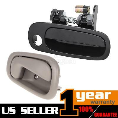 (2)For 1998-2002 TOYOTA COROLLA Outer Inner Front Right Pass RH Side Door Handle