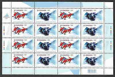 Canada - Full Pane of 16 - XX Olympic Winter Games : Turin, Italy #2143-44 - MNH