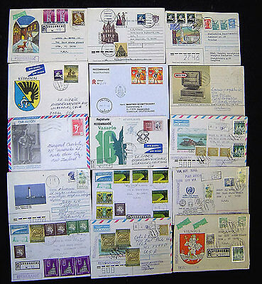 Lithuania Lot of 170 Modern Postal History Covers. Great lot with wide variety.