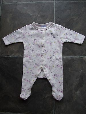 BNWNT Baby Girl's Floral Cotton Knit Onesie/Romper/Sleeper Size 0000