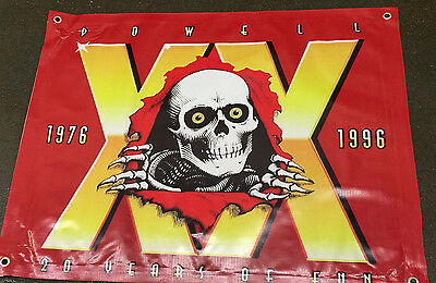 Powell Peralta poster banner skateboard complete grip board sign toy wheel deck