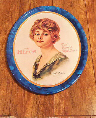 RARE Haskell Coffin signed HIRES The Honest ROOT BEER Serving Tray One Lady 4050
