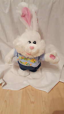 "15"" Easter Bunny Plush SHOUT DanDee Singing Electronic Animated Ear Flap Singing"