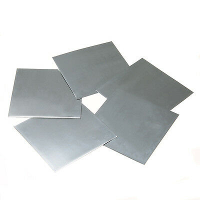 5pcs Zinc Zn Sheet Plate Plate Metal Foil 100mm×100mm×0.5mm for Science lab