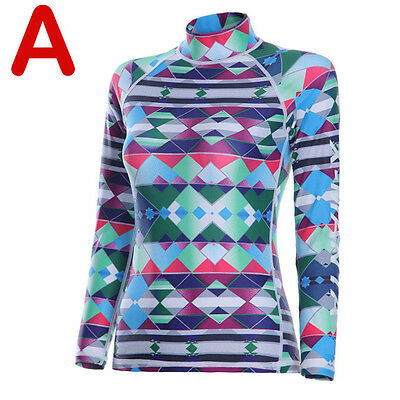 Warm Womens Long Sleeve Swiming Diving Top Surf Snorkeling Wetsuit LS-607