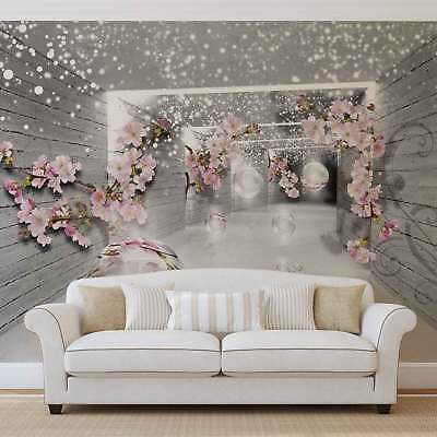 WALL MURAL PHOTO WALLPAPER XXL Snow Flowers And Silver Spheres (3360WS)