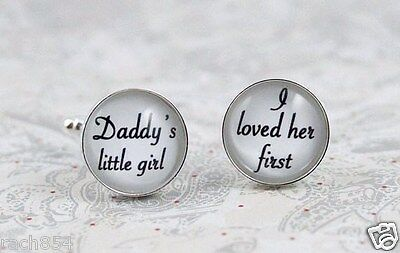 Personalised Photo Cufflink Set - Father of the Bride / Groom Wedding Gift