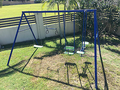 Hills Playtime Blue/Green 4 Bay Swing Set
